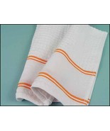 Orange Nancy Kitchen Towel 15x24 14ct cross sti... - $7.65