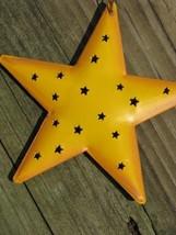OR-309- Yellow Star Metal Christmas Ornament  - $1.95