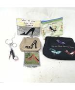 Elegant High Heel Shoe Fashionable Sparkling Charm Elegant Keychain Card... - £17.62 GBP