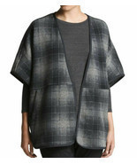 The North Face  women's Grey Fleece Crescent Poncho size XS retail $99 - $65.09