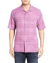 Tommy Bahama Horizon Palms 100% Silk Camp Shirt, Iris Orchid, Size M BNW... - $74.75