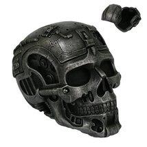Cyborg Skull Jewelry Box Collectible Figurine - $24.74
