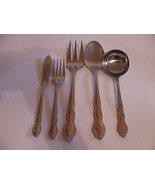 FLATWARE VINTAGE STAINLESS CHINA-FIVE PIECES-CR... - $9.89