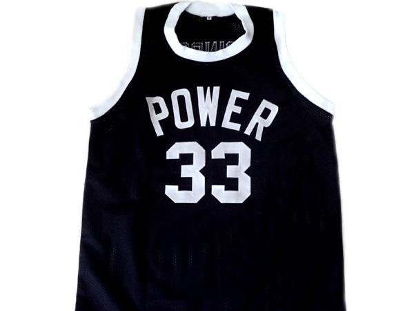 Alcindor #33 Power High School Abdul Jabbar Basketball Jersey Black Any Size