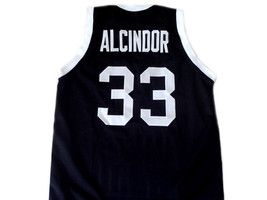 Alcindor #33 Power High School Abdul Jabbar Basketball Jersey Black Any Size  image 2