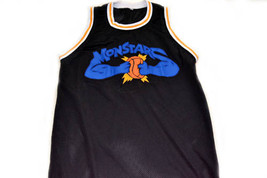 Any Name & Number Monstars Tune Squad Space Jam Basketball Jersey Black Any Size image 1