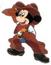 Disney Mickey Cowboy full body and has sheriffs badge pin/pins - $19.99