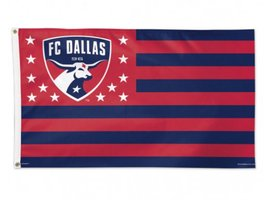 FC Dallas WinCraft Stars & Stripes Deluxe Indoor Outdoor Red Navy Flag (3' x 5') - $26.95