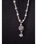 """Sterling Silver Filagree Ball 17"""" Necklace Ornate 42 grams - $127.35"""