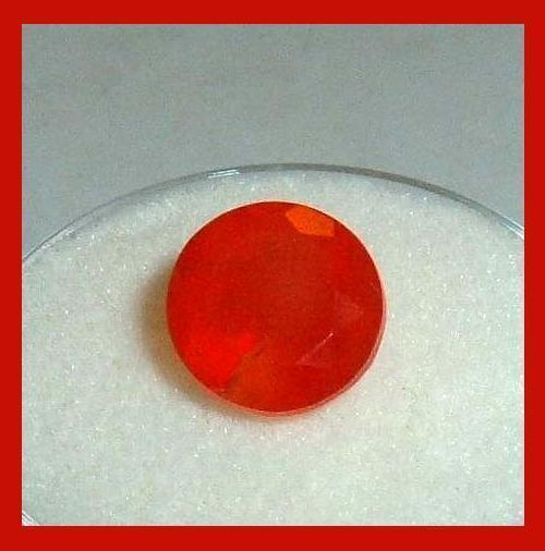 2.60ct Orange CARNELIAN Round Cut 9mm Faceted Natural Loose Gemstone