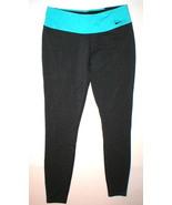 NWT Womens New Nike Leggings Pants Gray Aqua Blue Run Yoga Pilates Barre... - $70.00