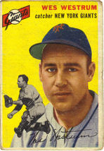 Topps #180 Wes Westrum baseball card 1954   - $15.00