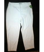 New Womens 16 Orvis Office Slacks Pants White Trouser Chino Side Zip Fla... - $98.00