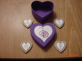POWERFUL & ENERGETIC PURPLE HEART REIKI BOX WIT... - $9.99
