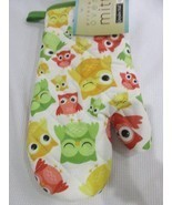 NEW Gray don Hall Owl Oven Mitt Cute! - $7.42 CAD