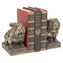 Stylized Art Deco Muscular Mascots Bulldogs Faux Bronze Collectible Book... - £78.43 GBP