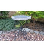 Stone Age Creations BB-MO-CHR Charcoal Monarch Birdbath Natural Stone - $399.84