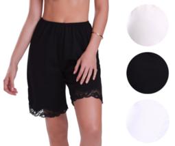 New Women's Premium Illusion Classic Trouser Pants Half Slip With Lace Trim 2637