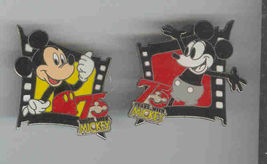 Disney Mickey Mouse and Steamboat Willie  75 years set of 2 pin/pins - $29.02