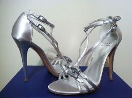 Stuart Weitzman Bow Goes Up Moonglow Women's Dressy Evening Strappy Heel... - $133.54