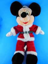 """Vintage twill tape tag Walt Disney Mickey Mouse in Santa Claus suit 16"""" Plush - $17.32"""