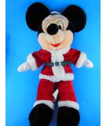 """Walt Disney Mickey Mouse in Santa Claus suit 16"""" Plush Vintage cotton tw... - $18.70"""