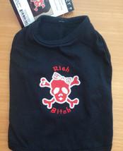 RICH BITCH Skull Cross Bones Bling Bow Small Dog Black Shirt T-Shirt Cos... - $4.92