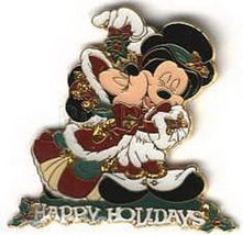Disney Minnie and Mickey Mouse Under the Mistletoe LE Pin/Pins - $19.99