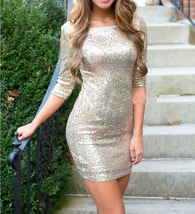 Fashion Sexy Women Shiny Sequins Bandage Bodycon Club Cocktail Party Min... - $18.50