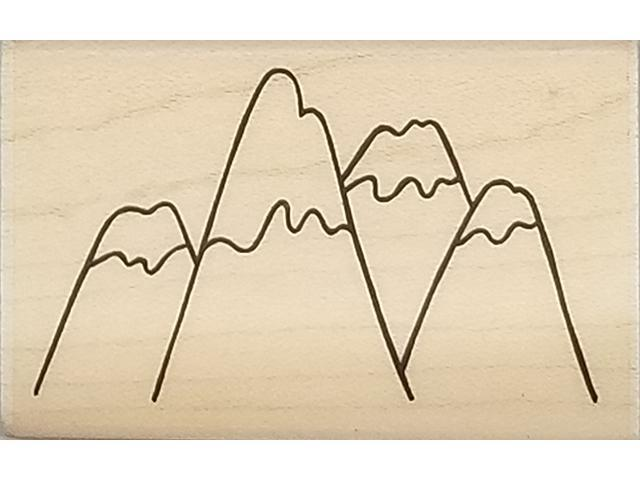 A Muse Artstamps Snowy Peaks Rubber Stamp #2-4155E