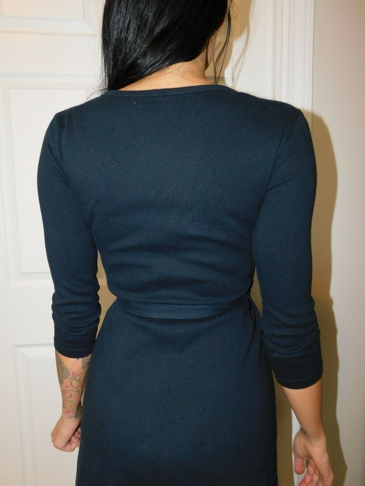 AMERICAN APPAREL Women's Black Wrap Dress Size US XS image 6
