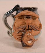 "Robert Eakins 1970""s Signed Ceramic Funny Face Stoneware Mug Beer Coffee... - $83.16"