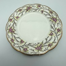 Royal Albert England Heather Bell 8 Inch Salad Dessert Plate HTF Vintage - $19.31