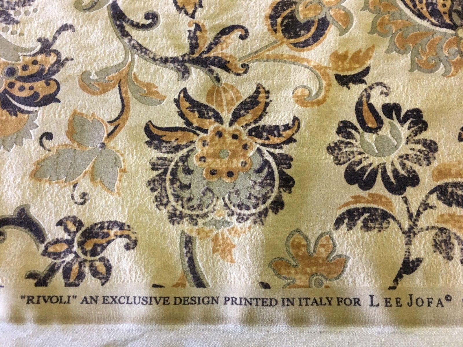 1.875 yds Lee Jofa Upholstery Fabric Rivoli Boho Italian Velvet 2005197 CH