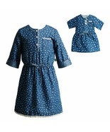 Dollie & Me Girl 4-14 and Doll Matching Denim Dress Outfit Clothes Ameri... - $29.99