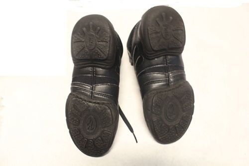 Bloch SO500L Adult's 7.5 (fits 6.5) Black Leather Mid Top Split Sole Sneakers image 2