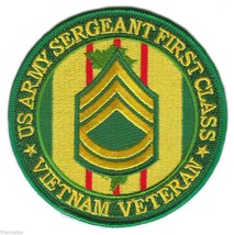 """ARMY SERGEANT FIRST CLASS VIETNAM VETERAN 4"""" EMBROIDERED MILITARY PATCH - $18.04"""