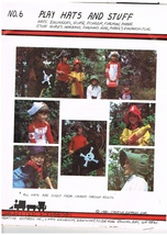 Vintage Play Hats and Stuff Sewing Craft Pattern for Fireman Nurse Pirat... - $8.00