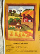 Needlepoint Embroidery Harvest Time Barn 1988 Creative Circle No. 1424 - $12.99