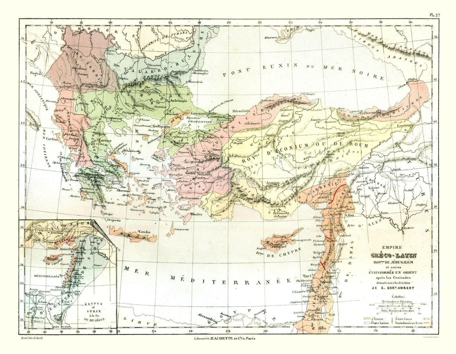 Greco Roman Empire - Cortambert 1880 - 23.00 x 29.69 - $36.58 - $94.00