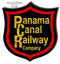 Aged Looking Panama Railroad Laser Cut Out 14x15 - $25.74