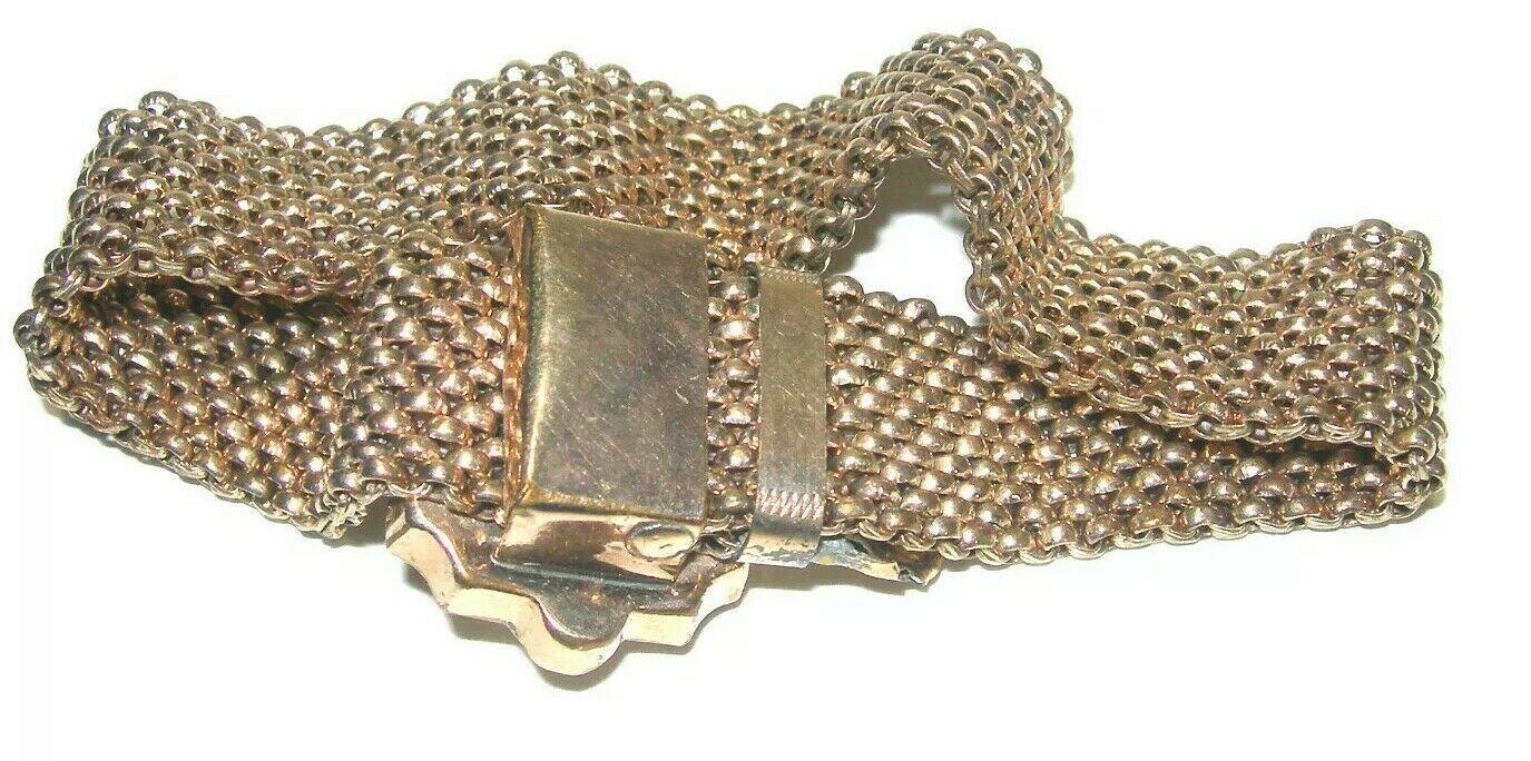 ANTIQUE ESTATE VICTORIAN GOLD FILLED STONE CARVED CAMEO SLIDER BRACELET SLIDE