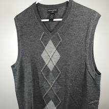 Banana Republic L Sweater Vest Mens Size Large 100% Wool Gray  - $18.56
