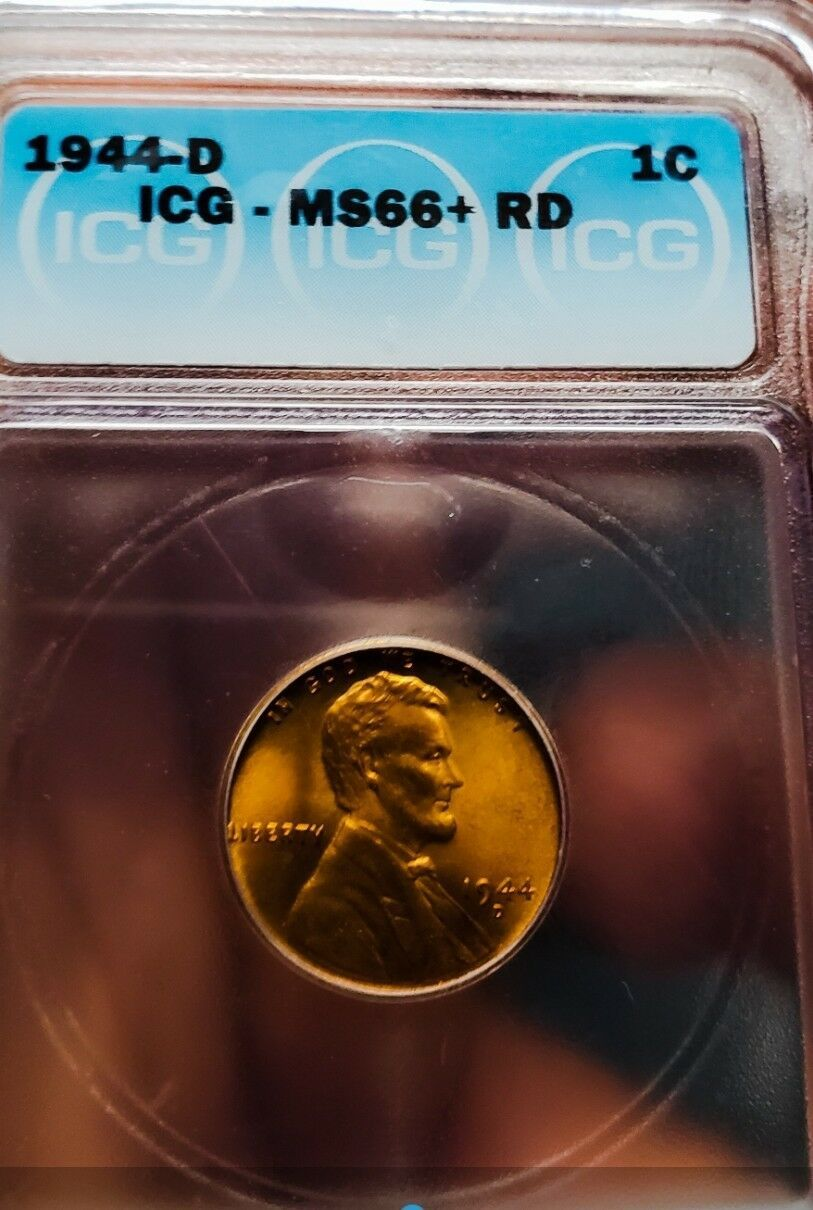 1944 D MS66++ RED  LINCOLN WHEAT PENNY CENT * 602*  looks 67++ .