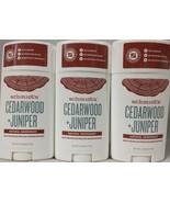 3 Pack Schmidt's Naturals Deodorant Stick Cedarwood + Juniper 3.25 oz Ea... - $19.75