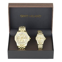 His and Her Watch Sets - 2 Piece Matching Gift Set by Gino Milano with G... - $23.64