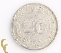 1878 Straits Settlements 20 Cents (Very Fine+, VF+) Silver 20c Twenty KM-12 - $84.15