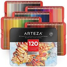 Arteza Professional Watercolor Pencils for Adults & Kids, Set of 120, Water-Solu