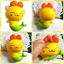 14cm New Jumbo Mermaid Cat Squishies Slow Rising Squeeze Stress Relieve Toy Gift - $3.99