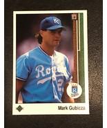 1989 Upper Deck - Mark Gubicza - Royals - BLANK BACK ERROR - $1.73